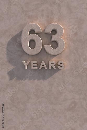 Fotografia  63 years 3d text