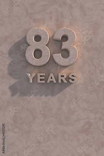 Fotografia  83 years 3d text