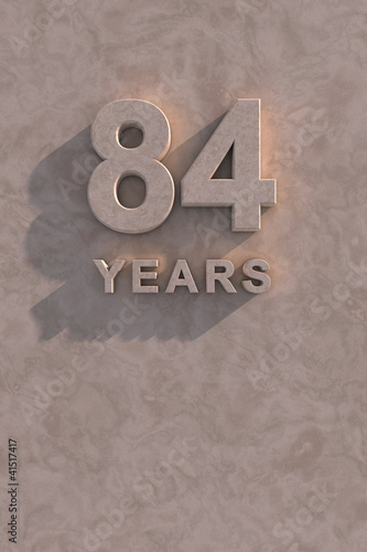 Fotografia  84 years 3d text