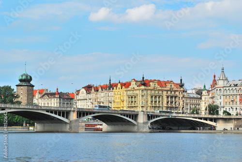 Beautiful quay in Prague Poster