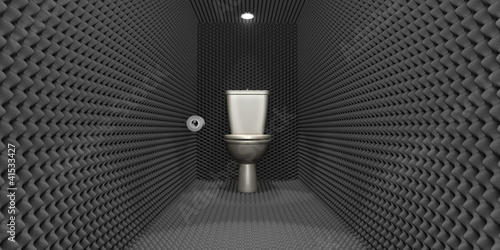 Fotografia, Obraz  Soundproof Toilet Cubicle