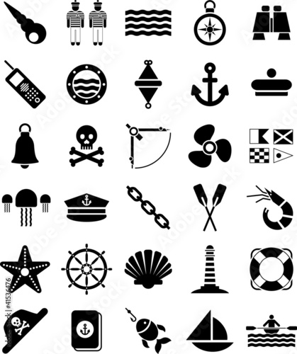 Photo  Nautical and marine icons