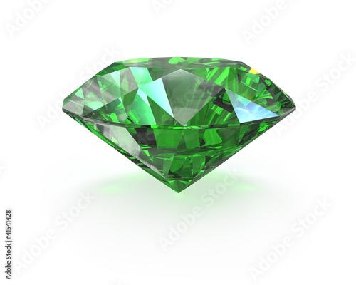 Cuadros en Lienzo Green round cut emerald