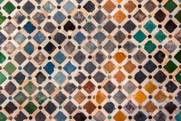 Panel SzklanyTile decoration, Alhambra palace, Spain