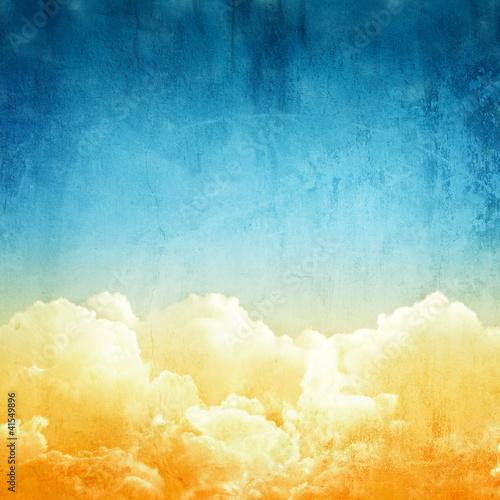 Poster Retro cloudscape