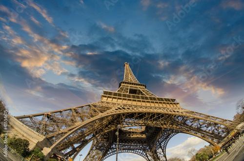 Staande foto Parijs Colors of Eiffel Tower in Paris