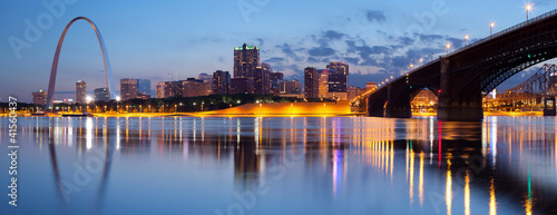 Spoed Fotobehang Bruggen City of St. Louis skyline.