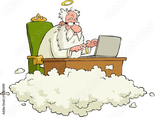 Fotografie, Obraz  Cartoon God