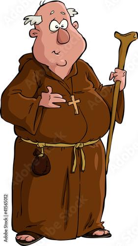 Fotografie, Obraz Cartoon monk