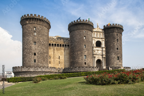 Foto op Canvas Napels castel nuovo