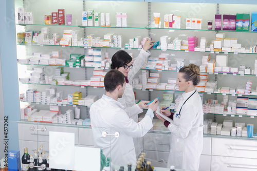 Keuken foto achterwand Apotheek pharmacy drugstore people team