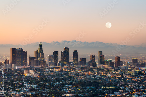 Stickers pour portes Los Angeles Los Angeles skyline