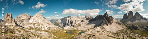 Dolomites panoramic view Tablou Canvas
