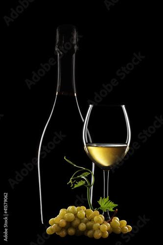 vino bianco in bottiglia Fototapete