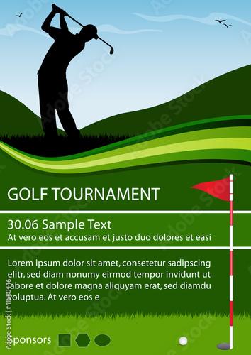 Fotografie, Obraz Flyer Golf Tournament