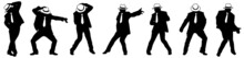 Silhouette Of The Man In A Hat, Michael Jackson Dancing In Style