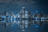 Fototapeta Miasto - Chicago Downtown at Night