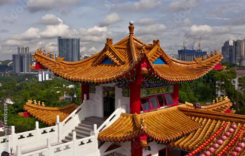 Kuala Lumpur cityscape and Thean Hou Temple