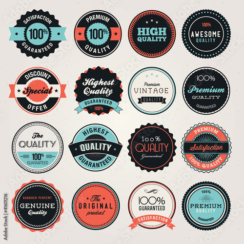 Fotografía  Set of business labels and and badges