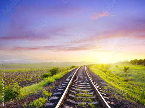 Türaufkleber Eisenbahnschienen railroad