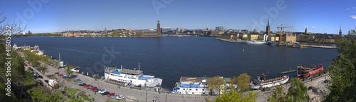 Staande foto Stockholm Panorama Stockholm