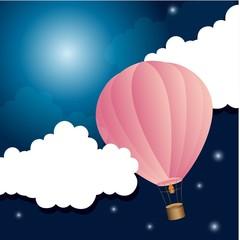 vrući balon noću