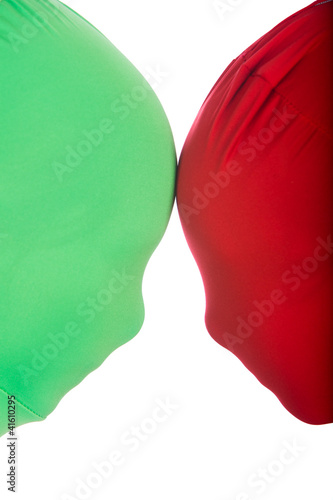 Fotografie, Tablou  Red and Green Faceoff