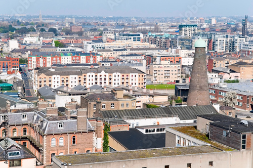 the view of Dublin, Ireland Poster