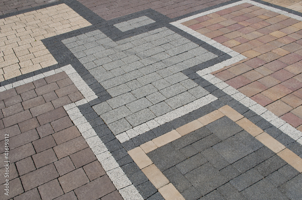 Fototapeta pattern on the pavement