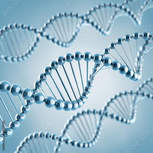 Spoed Fotobehang Spiraal DNA Moleküle