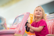 Adorable Baby Ride On Toy Car In Mall