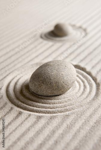 Foto op Plexiglas Stenen in het Zand Zen garden