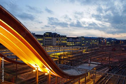Foto auf AluDibond Bahnhof Bahnhof Bern