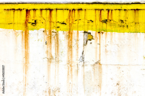 Grungy Old Wall With Rusty Yellow Paint - Buy this stock photo and ...