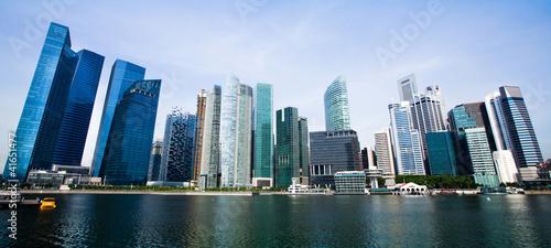 Tuinposter Singapore Wide Panorama of Singapore City.