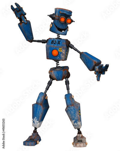 Photo sur Aluminium Robots old robot dancing