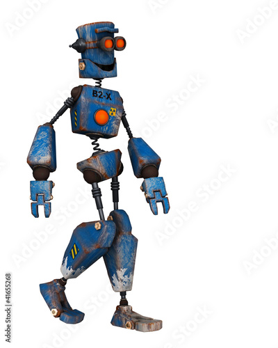 Canvas Prints Robots old robot just walking
