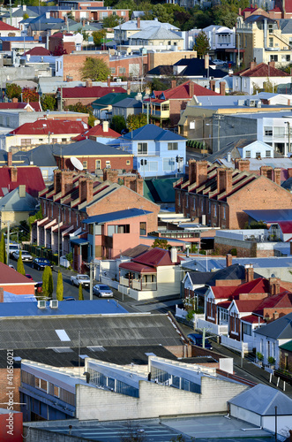 Foto op Canvas Australië Suburban houses, Hobart, Tasmania, Australia