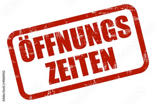 Fotografie, Obraz  Grunge Stempel rot ÖFFNUNGSZEITEN