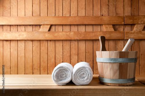 Doppelrollo mit Motiv - Sauna