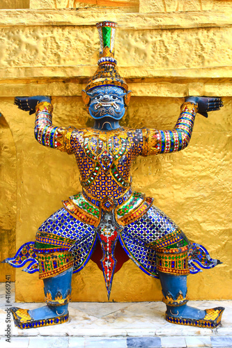 The demon guardian, guarding the temple in the grand palace, Ban