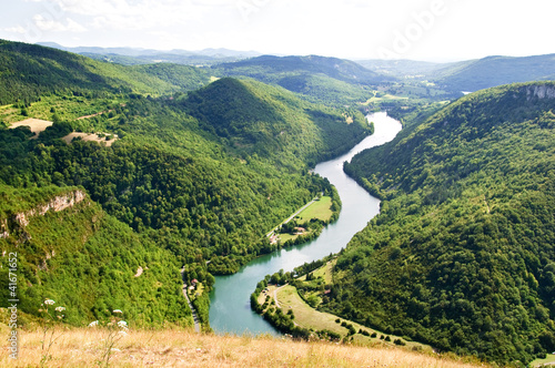 Printed kitchen splashbacks River Les Gorges de l'AIn