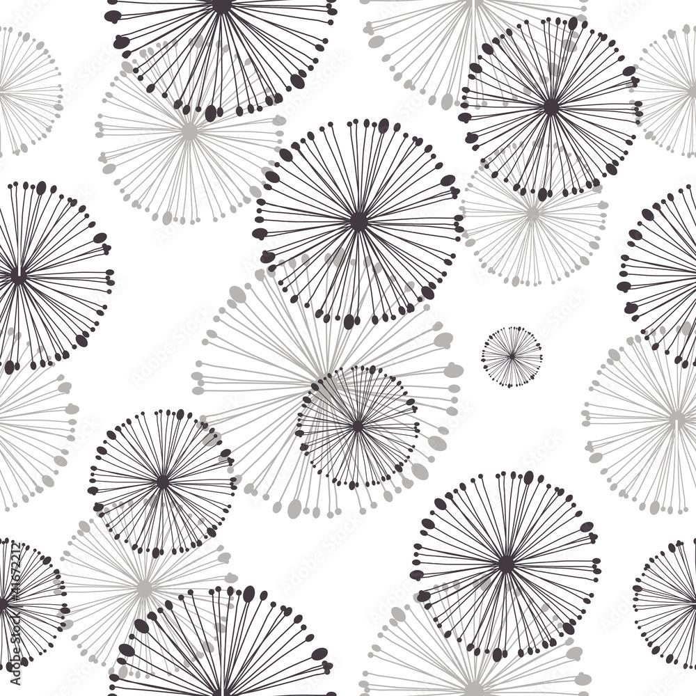 Fototapety, obrazy: seamless pattern of dandelion