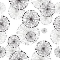 Fototapeta Współczesny seamless pattern of dandelion