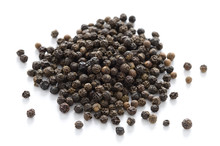 Black Peppercorns Isolated