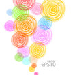 Abstract colorful bubbles background, vector