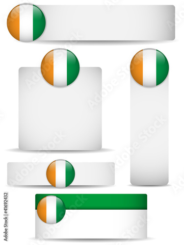 Photo  Ireland Country Set of Banners