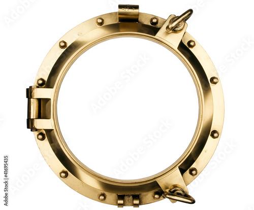 Foto auf AluDibond Schiff Brass Porthole - ventana Barco