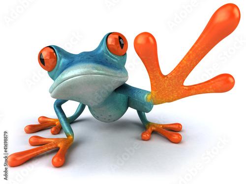Canvas-taulu Blue frog