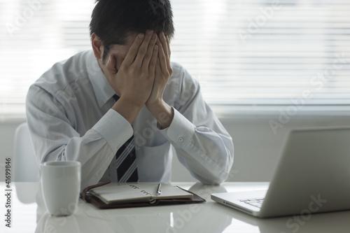 Fotografía  落ち込むビジネスマン